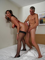 Horny mature slut enjoying a big hard cock